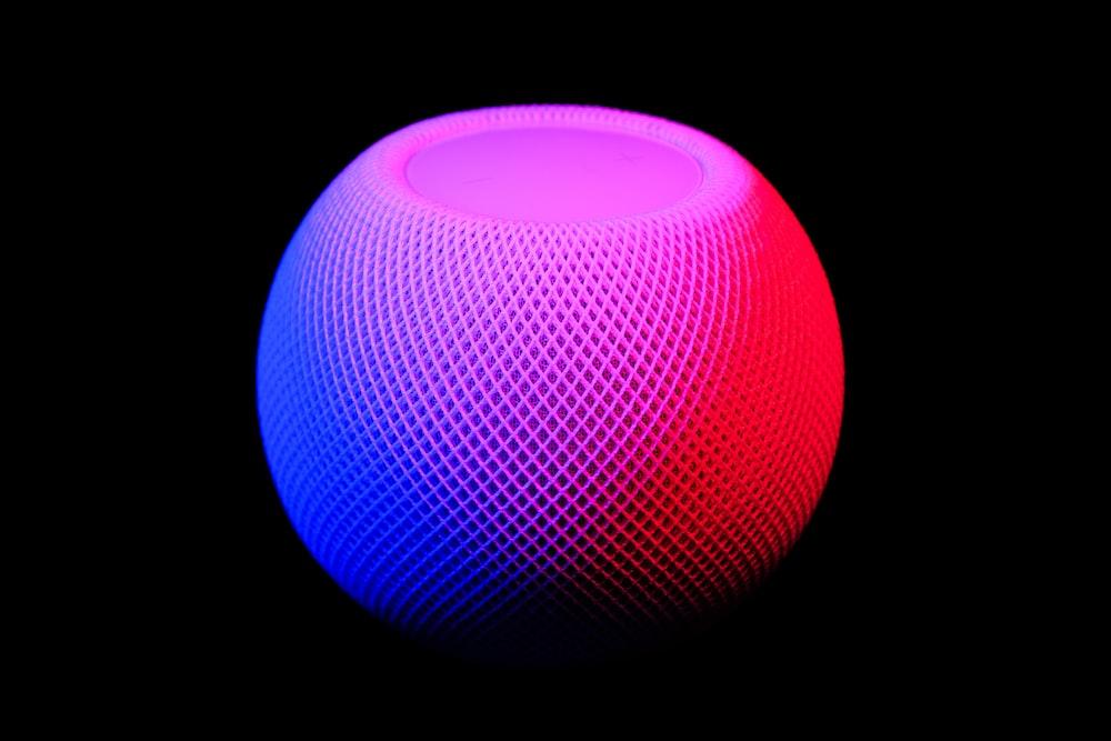 blue and white round light