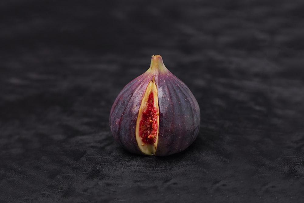 purple and white round fruit