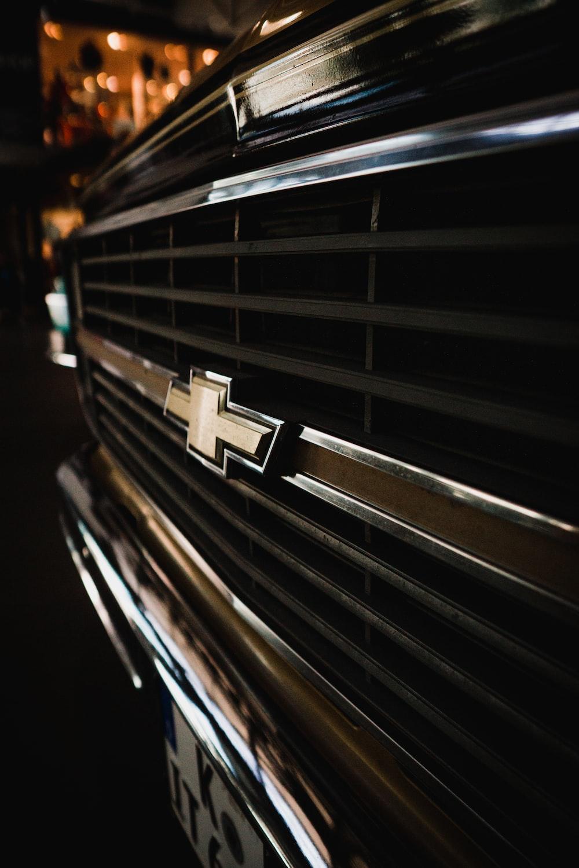 black and white striped car