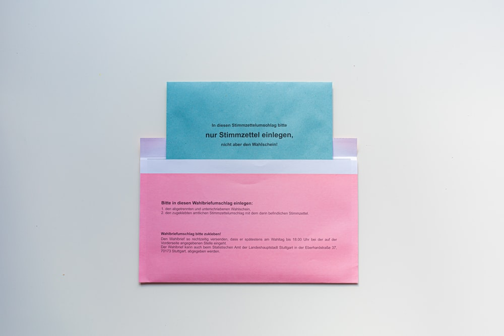 pink and white printer paper
