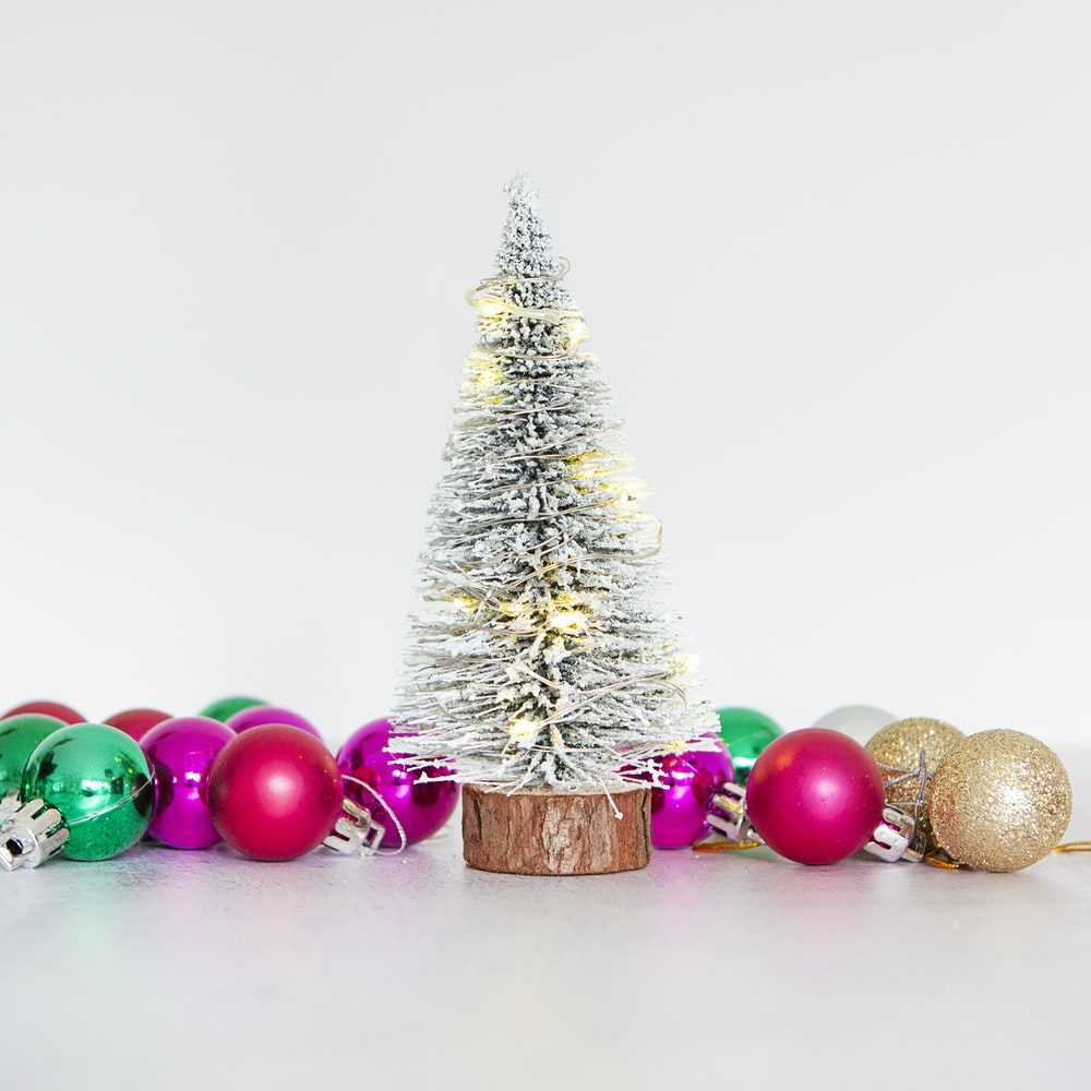 christmas tree with baubles and baubles
