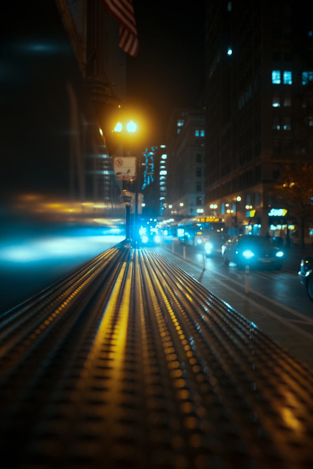 cars on road during night time