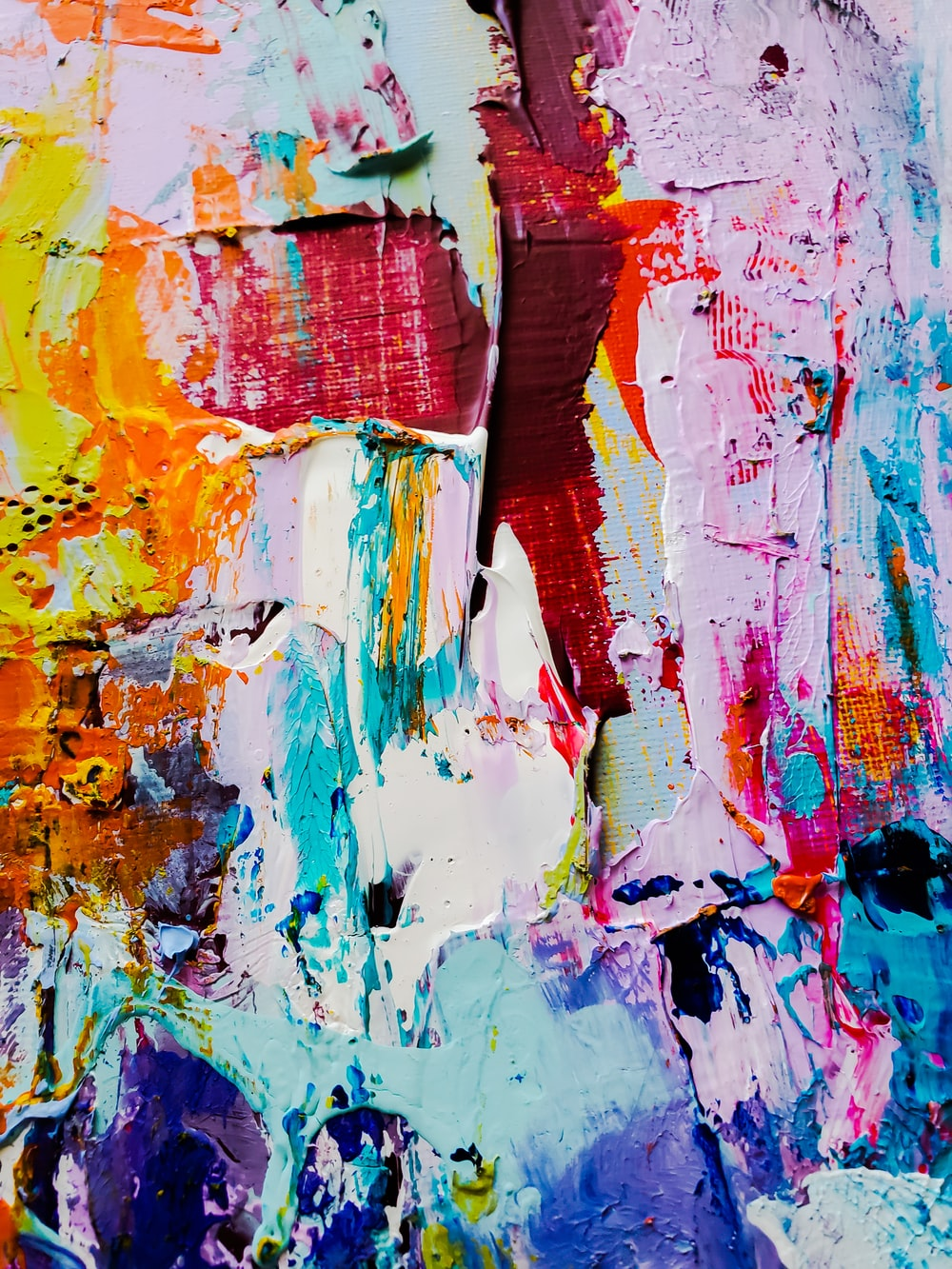 red blue and yellow abstract painting