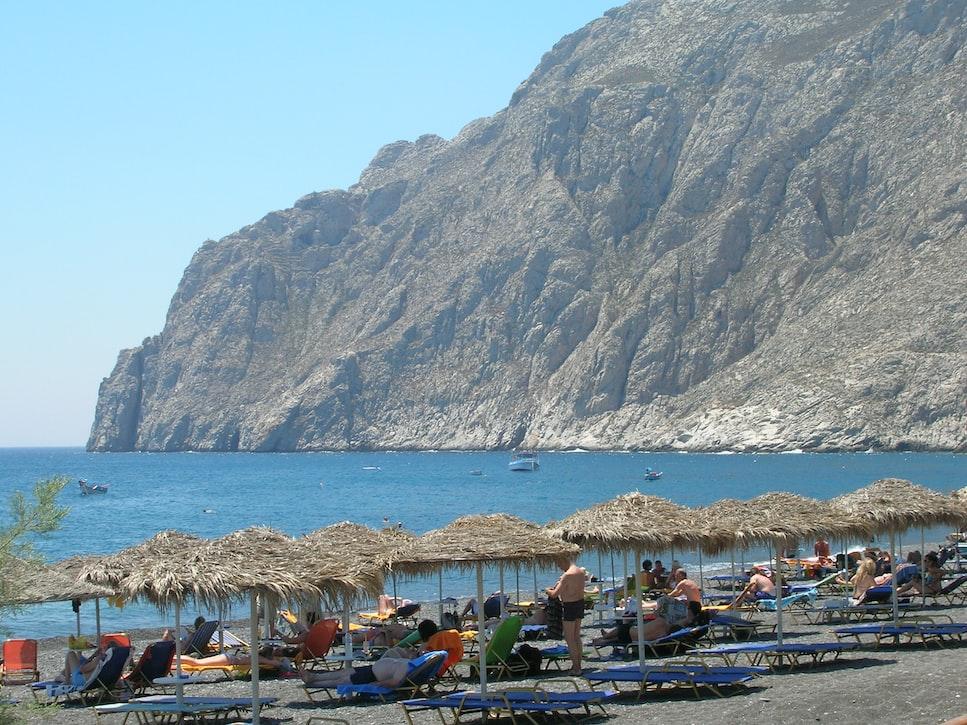 Black Sand beaches of Kamari & Perissa, Best Things to do in Santorini