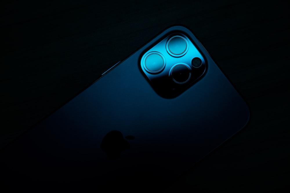 blue and black round light