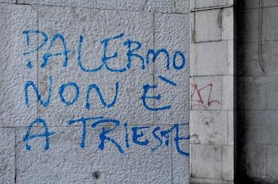 Trieste blue and black i love you wall art