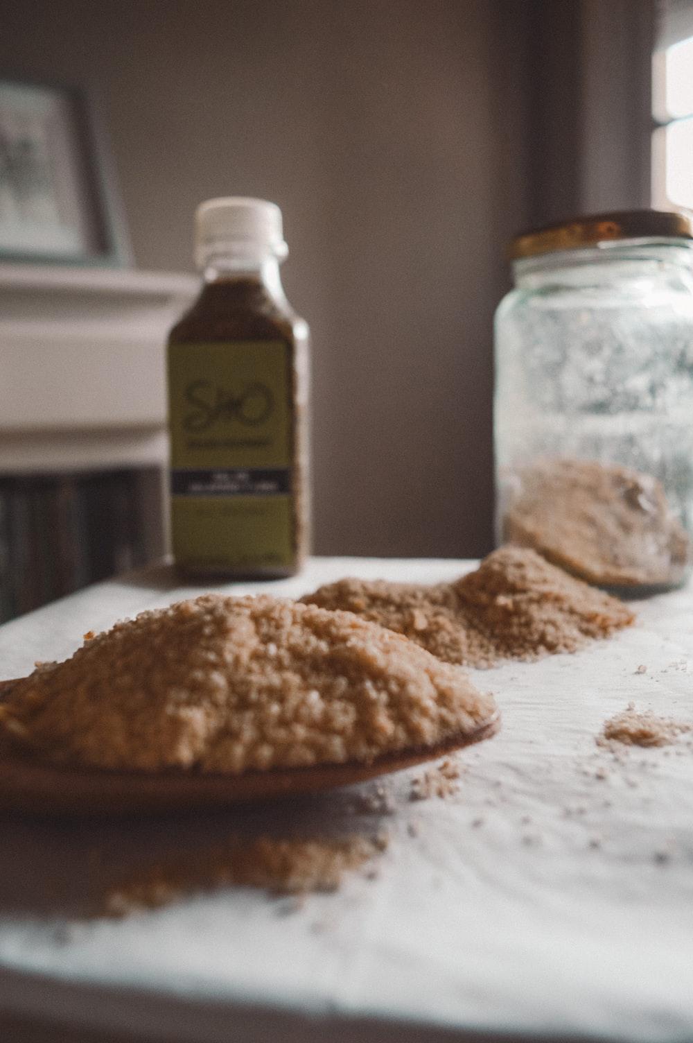 tesco garlic powder on white table