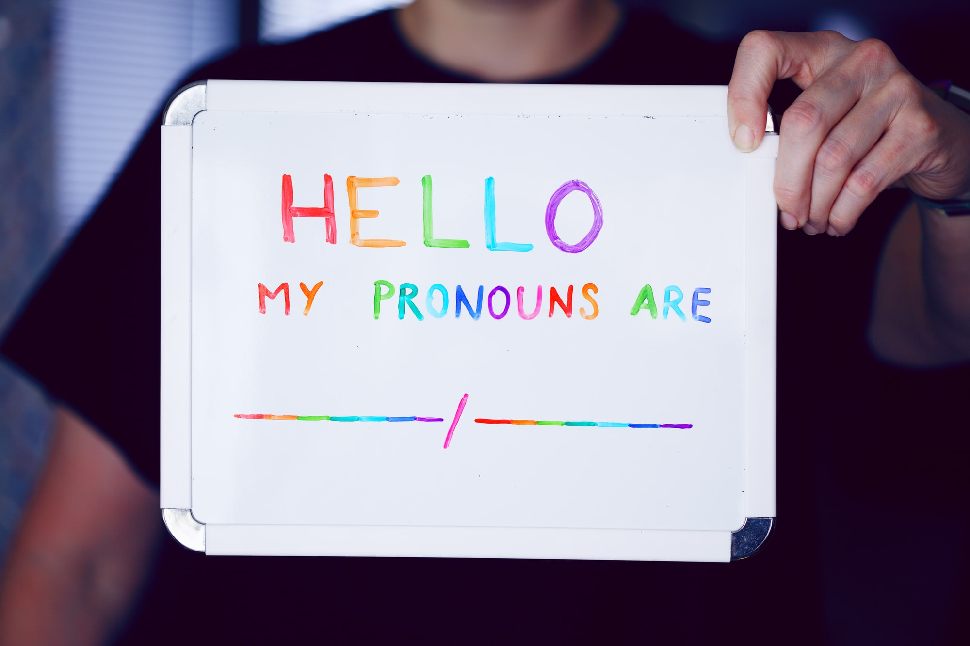 Pronouns matter. Pronouns are important. Everyone is valid. She/Her, He/Him, They/Them, Ze/Zim, and many more. Don't be afraid to ask which pronouns someone may prefer.