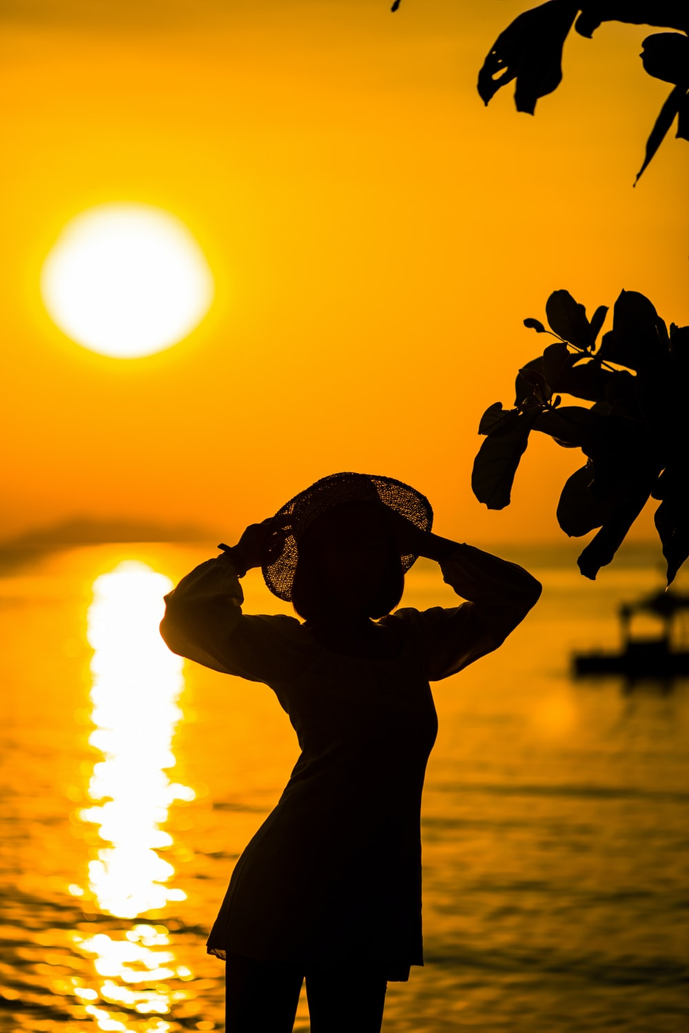 silhouette of man holding a camera