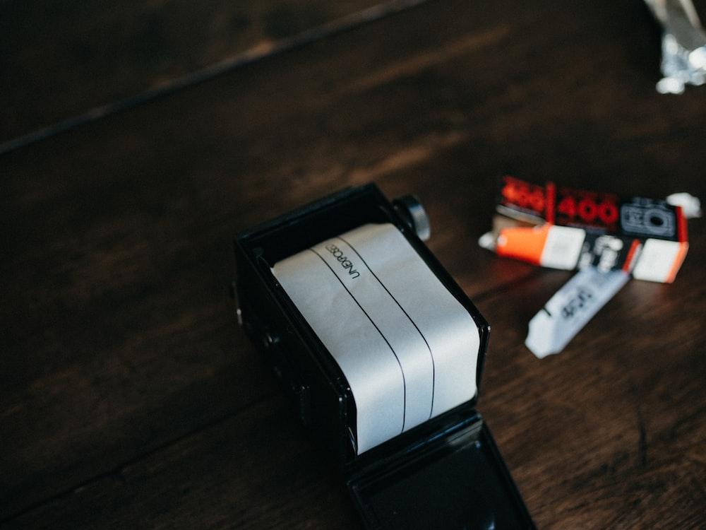 white and black plastic tool