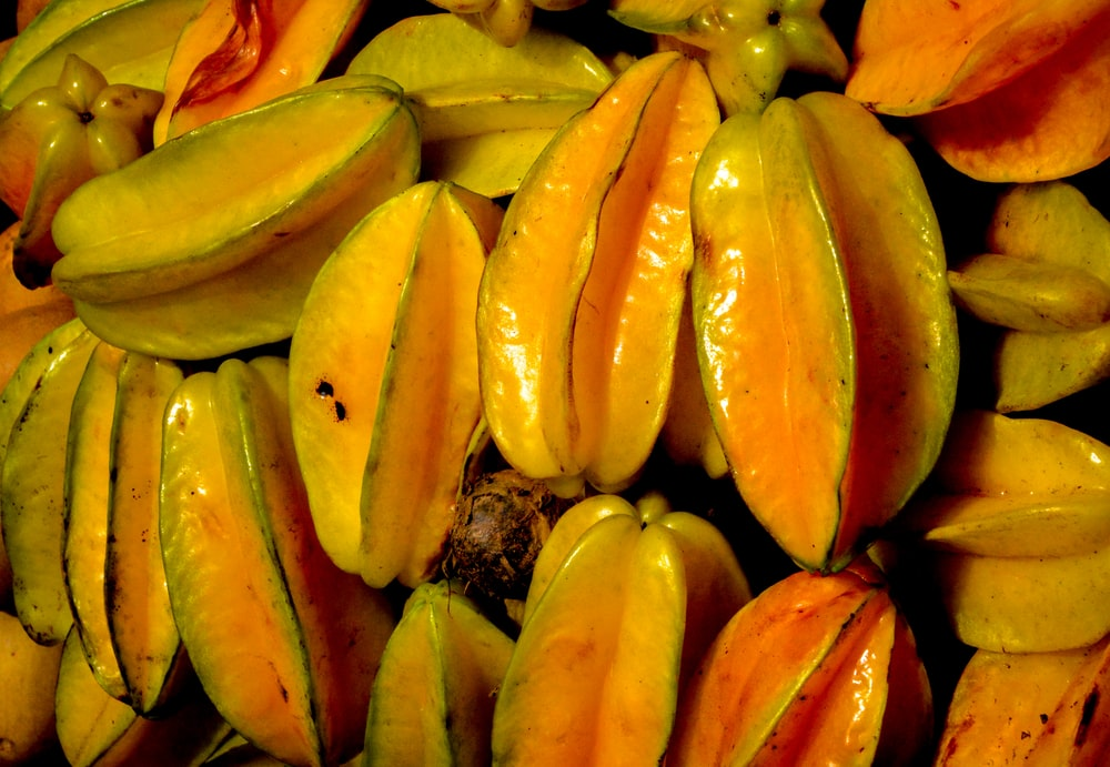 yellow and red banana fruits