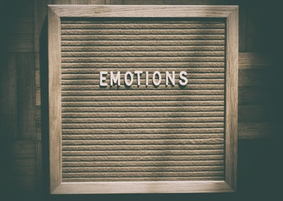Sign with the word Emotions on it.