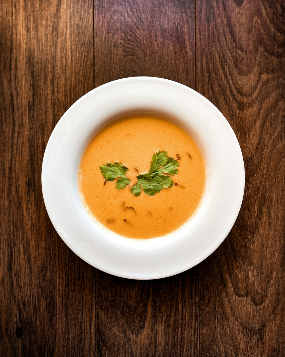soup in white ceramic bowl