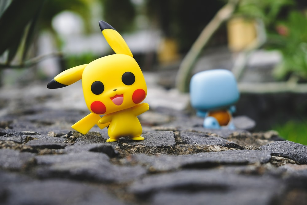 yellow and white pokemon character toy