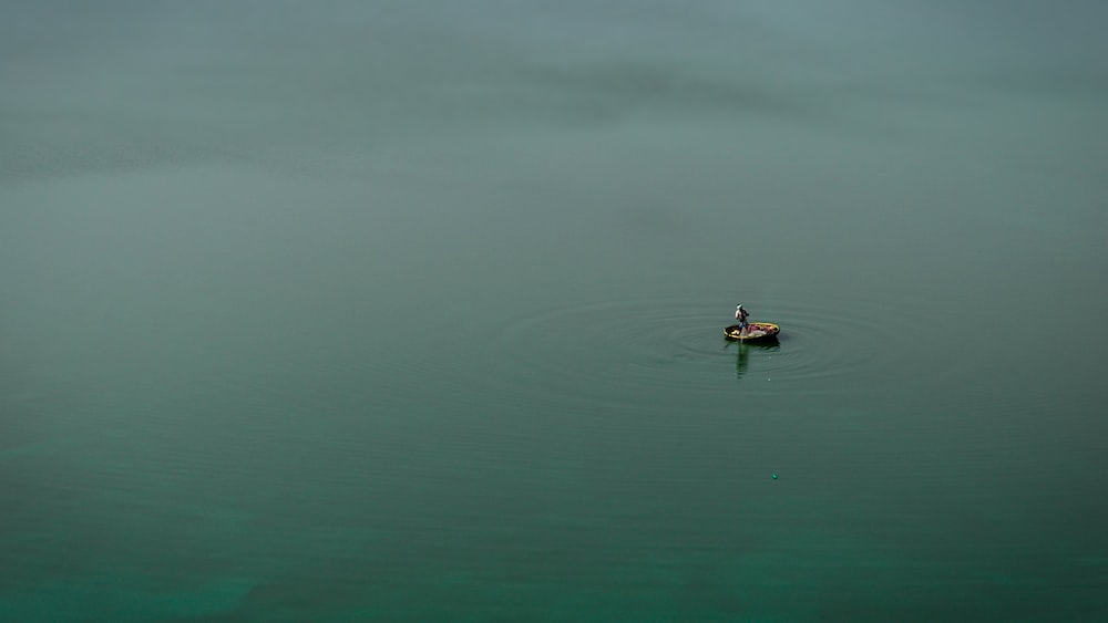 person in black shirt riding on boat on body of water during daytime