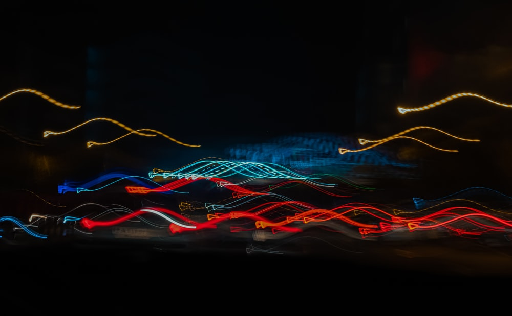 red blue and green lights