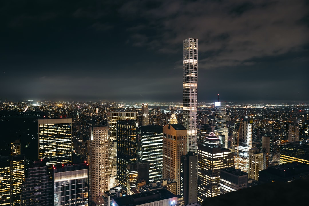 Manhattan Skyline By Night - unsplash