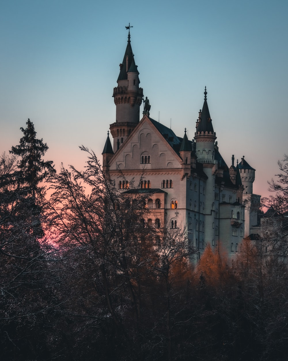 brown and gray concrete castle