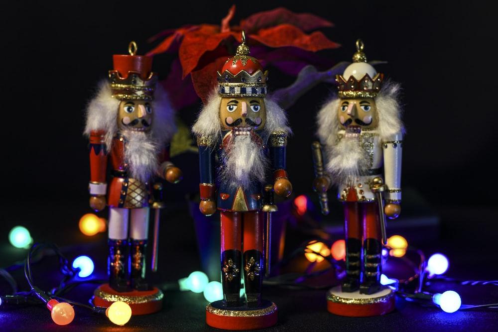 santa claus figurine with lights