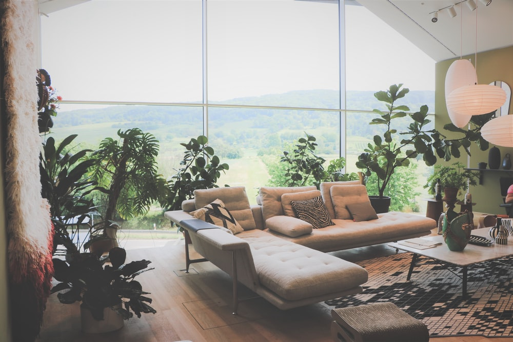 brown and black sofa set