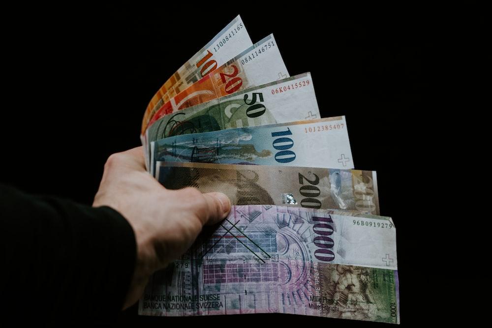 person holding fan of 20 euro bill