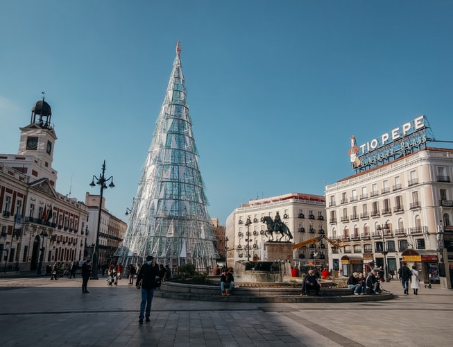 Christmas markets in Madrid, Spain