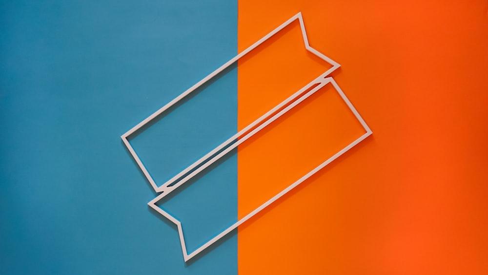 blue and orange metal frame