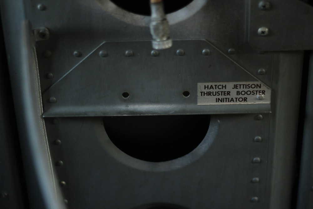 black and gray metal machine