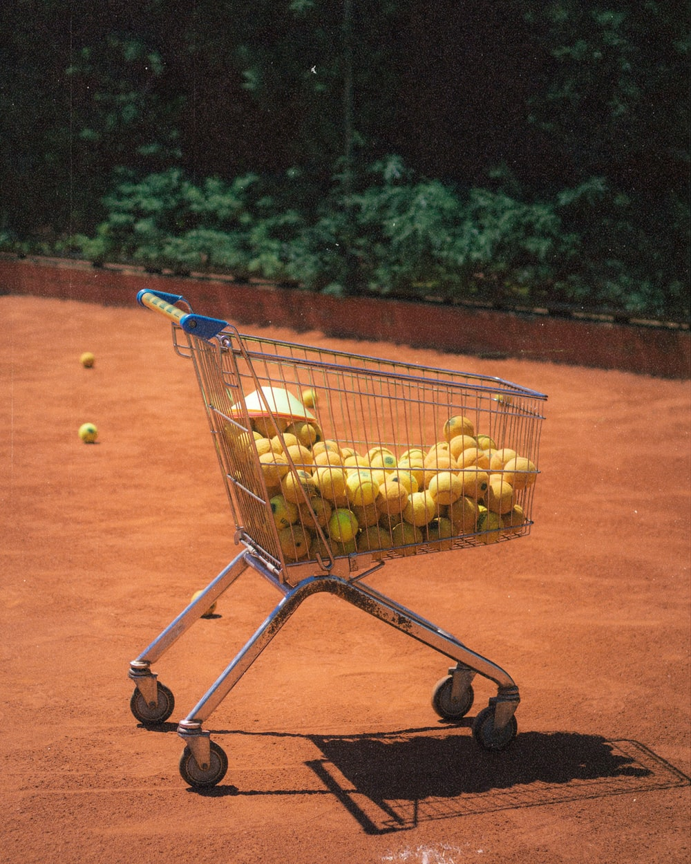 yellow fruits on shopping cart