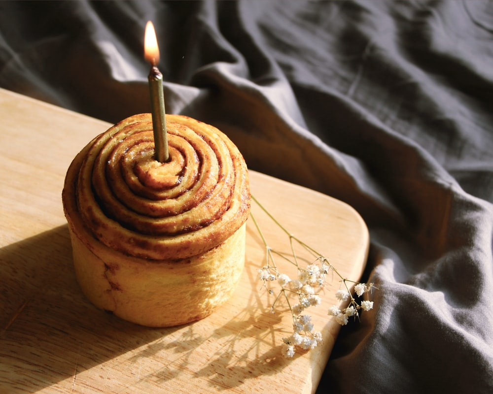 brown cupcake on brown paper