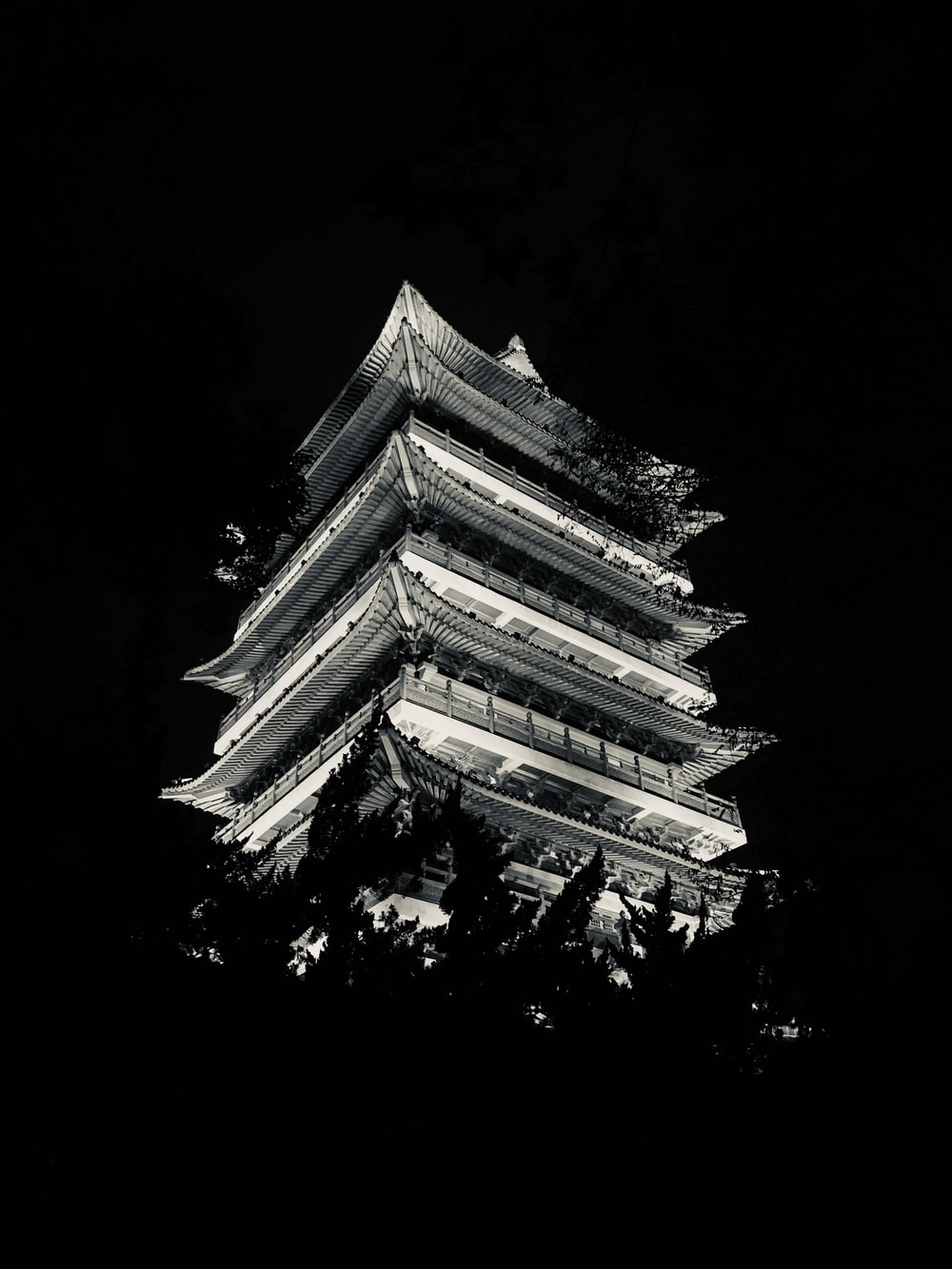 white and gold temple during night time