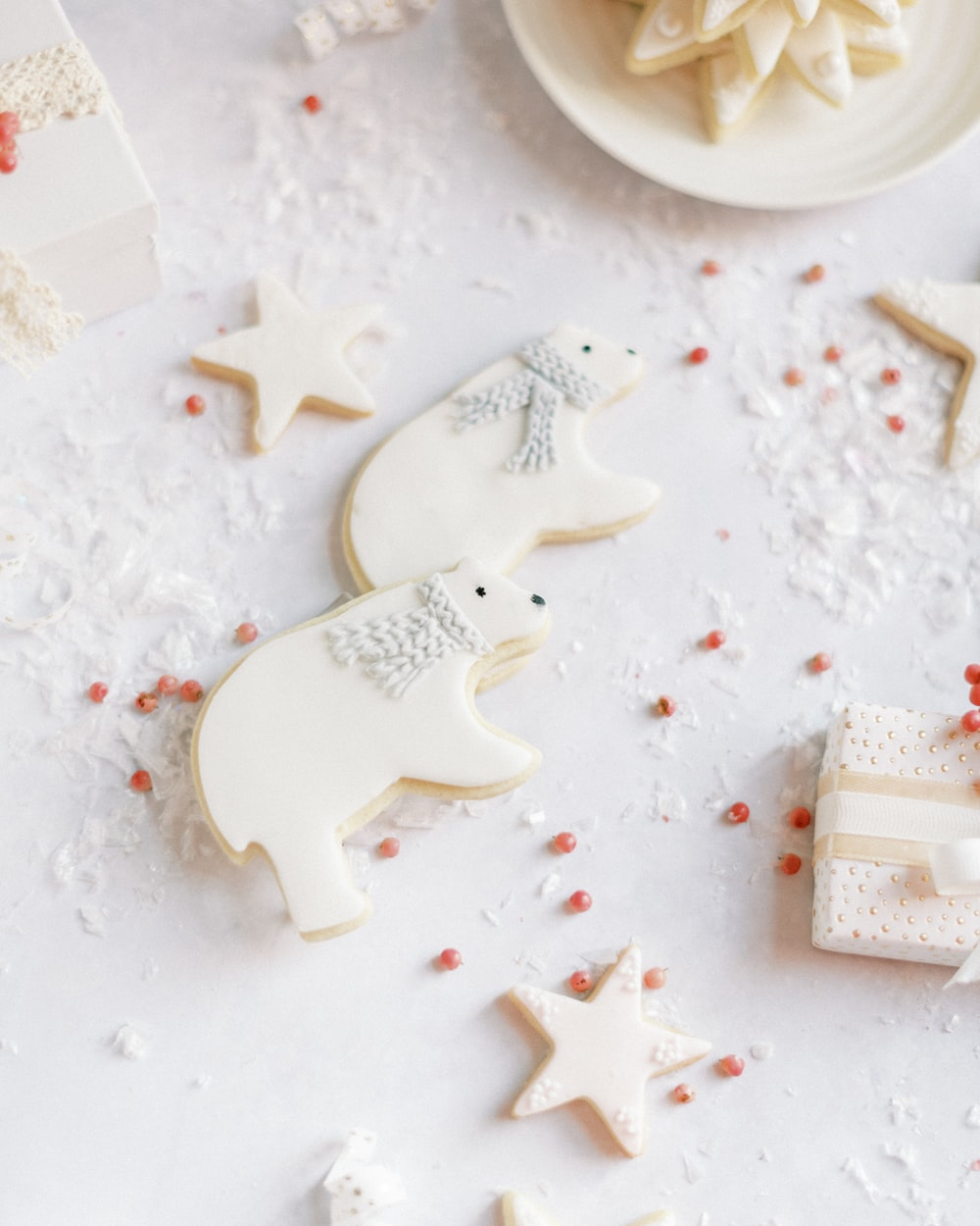 white ceramic heart shaped ornament
