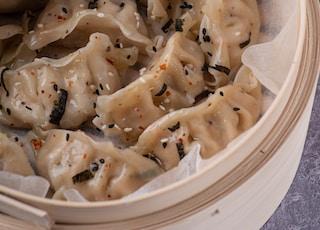 white pasta on white ceramic bowl