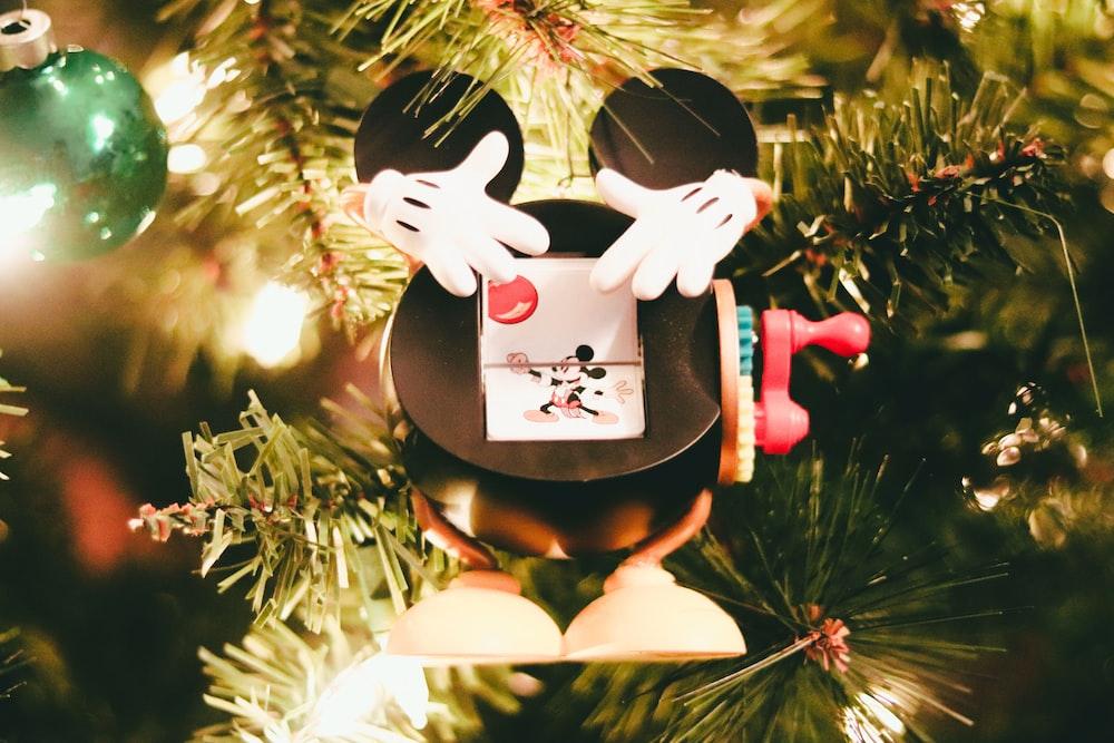 white and black rabbit ornament