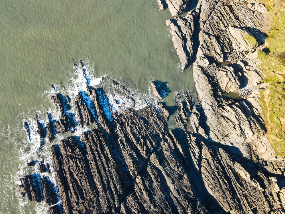 birds eye view of body of water