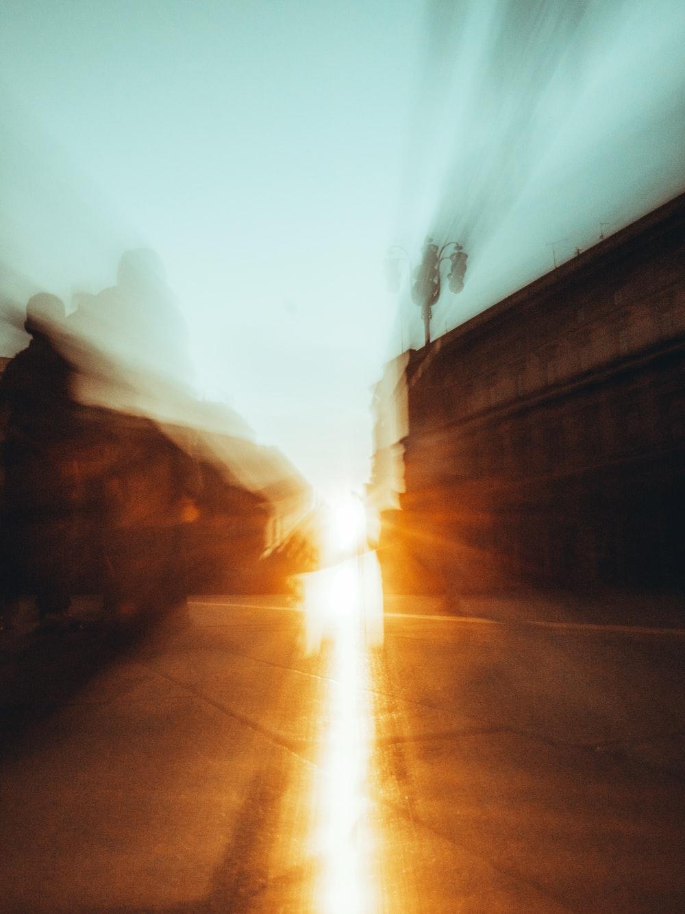 sun rays coming through tunnel