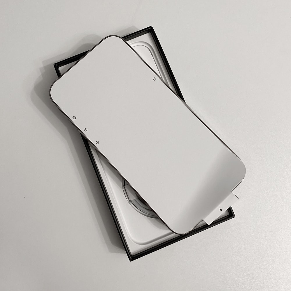 white and black tablet computer case
