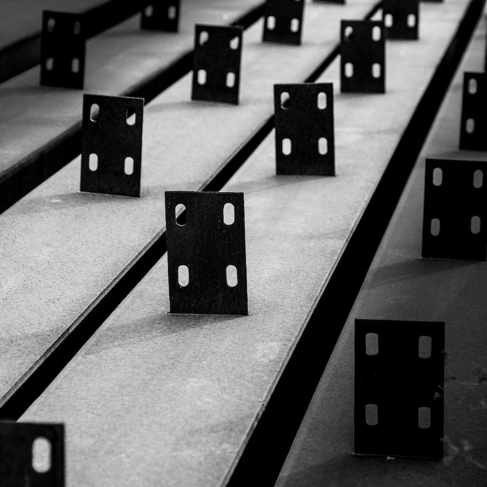 black and white square blocks