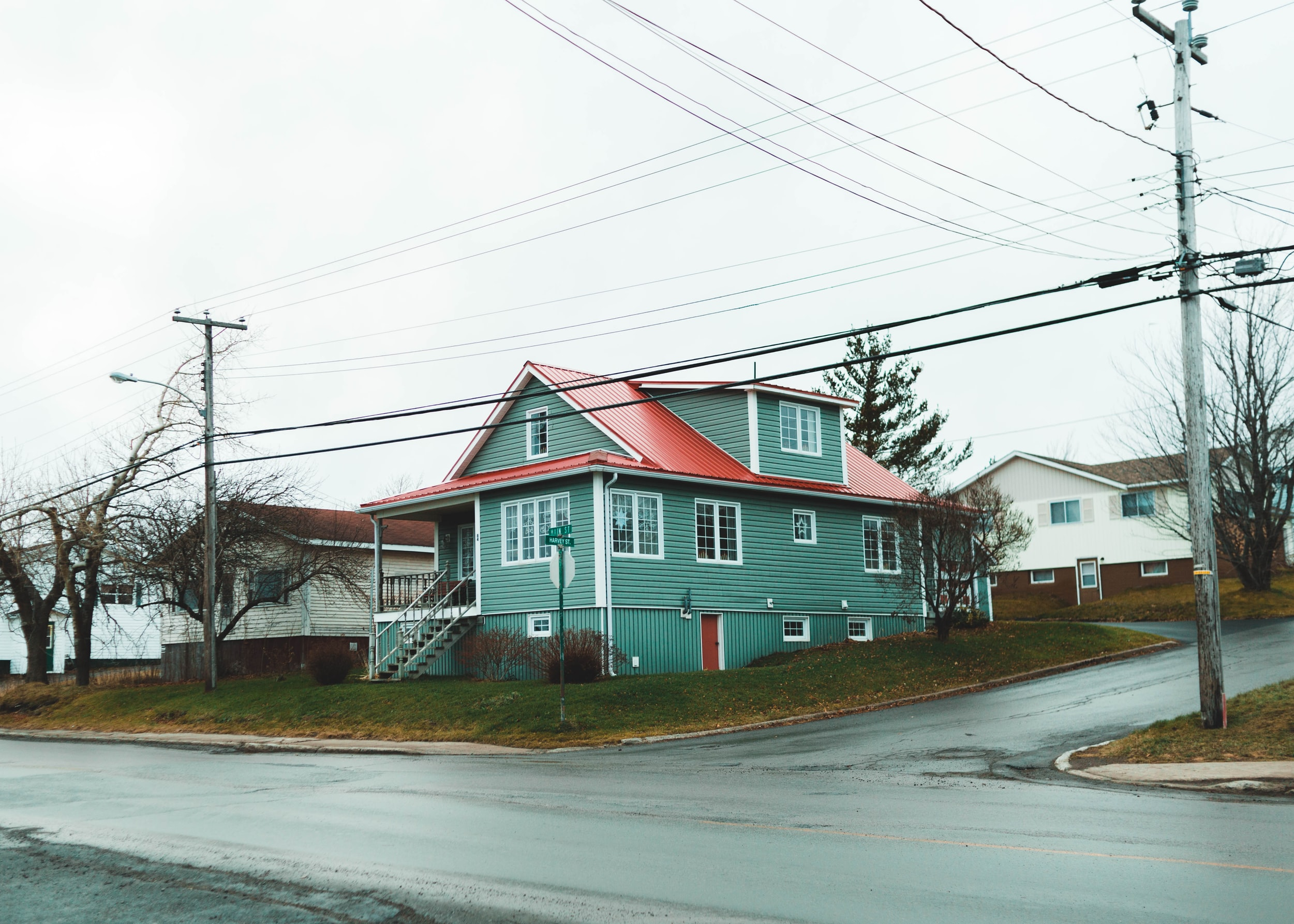 House with road