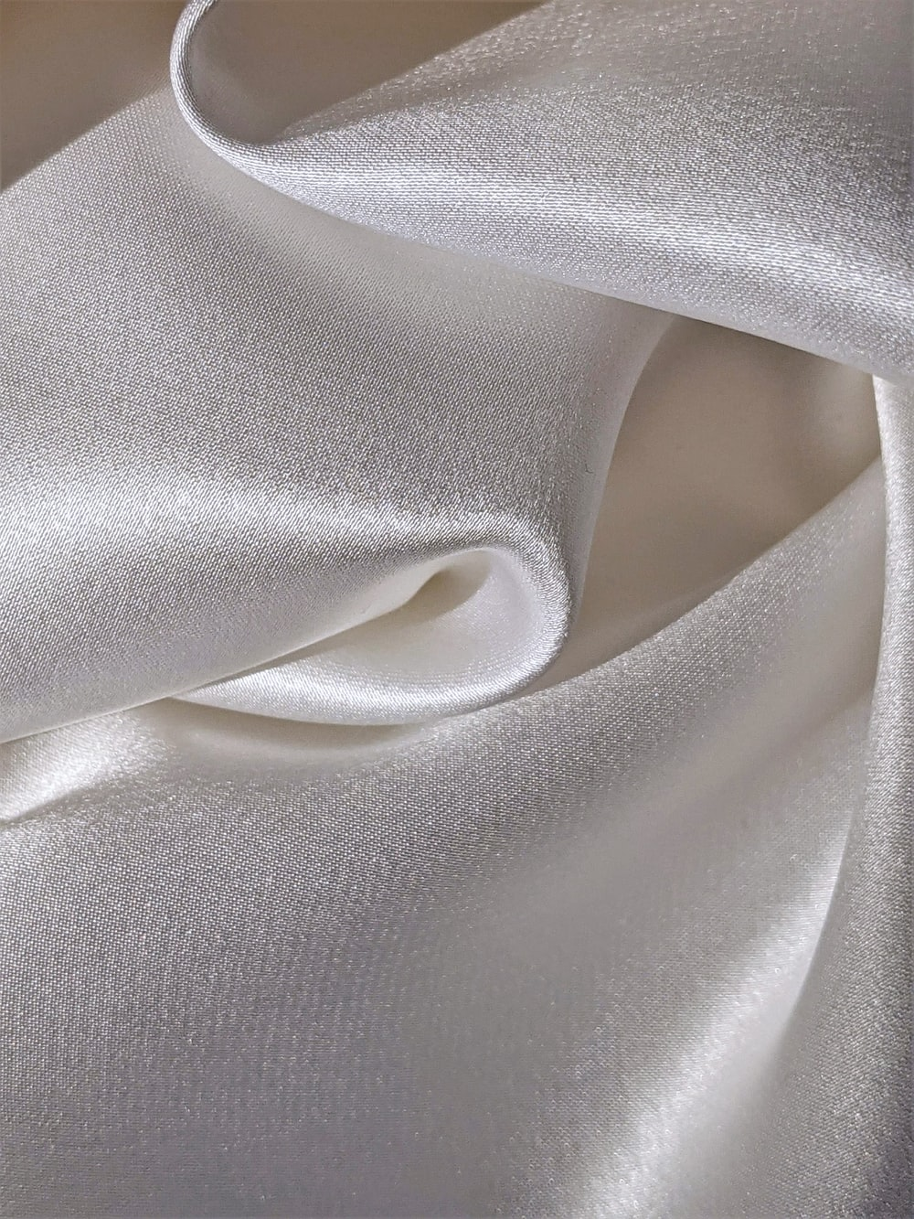 gray textile on brown wooden table