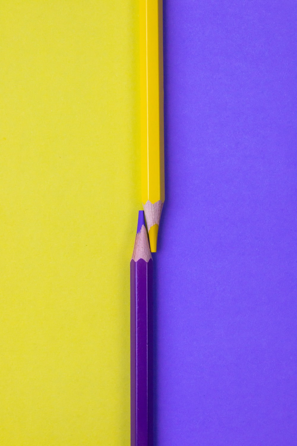 yellow pencil on yellow surface
