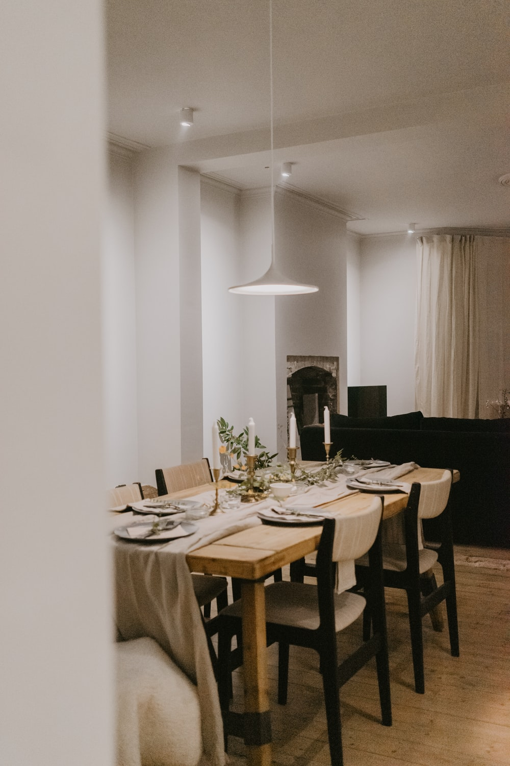 dining table with chairs and table