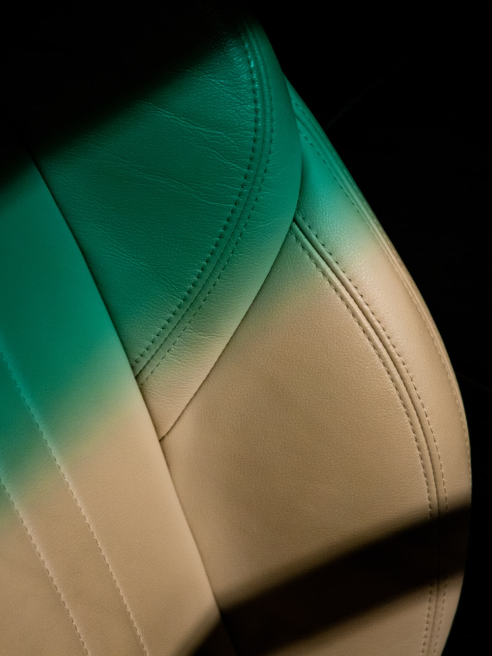blue and white leather textile