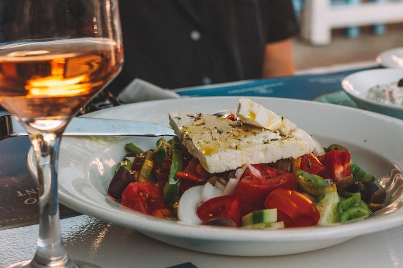 Greek salad in Athens
