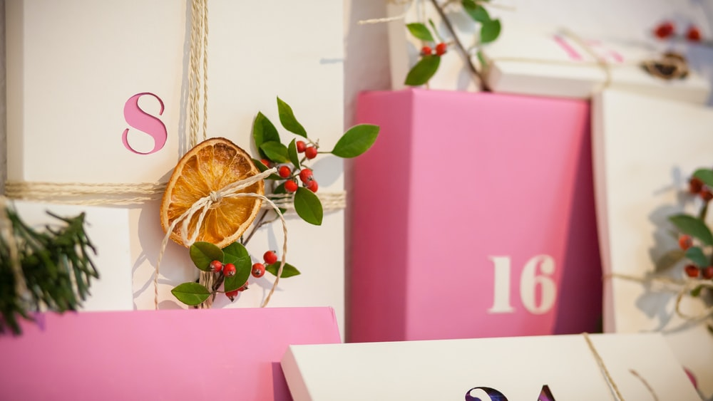 pink and yellow floral box