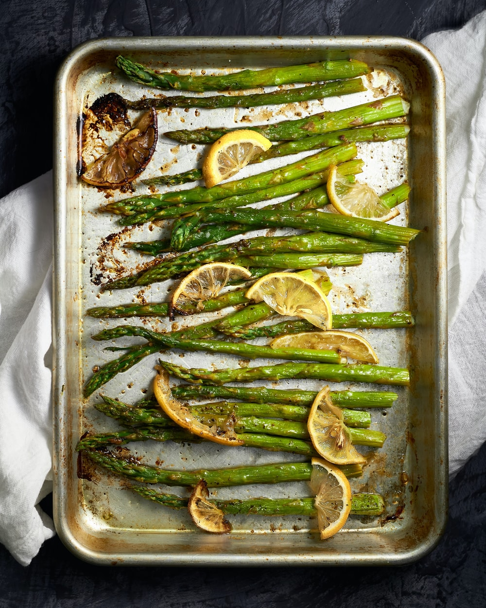 green vegetable on stainless steel tray