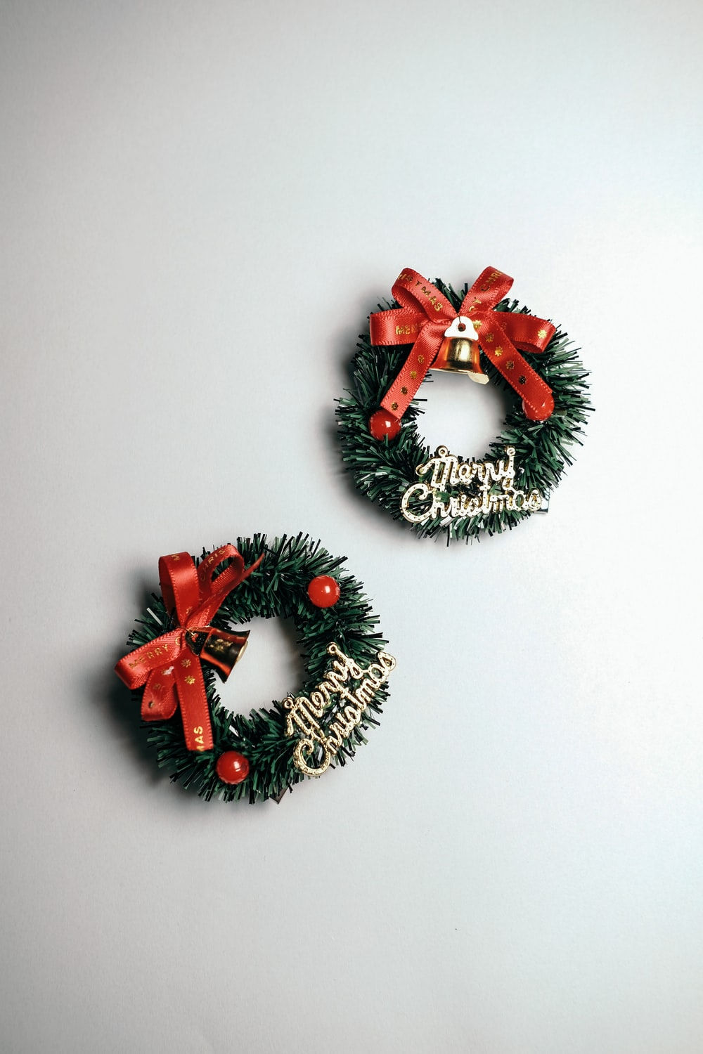 red and black floral wreath