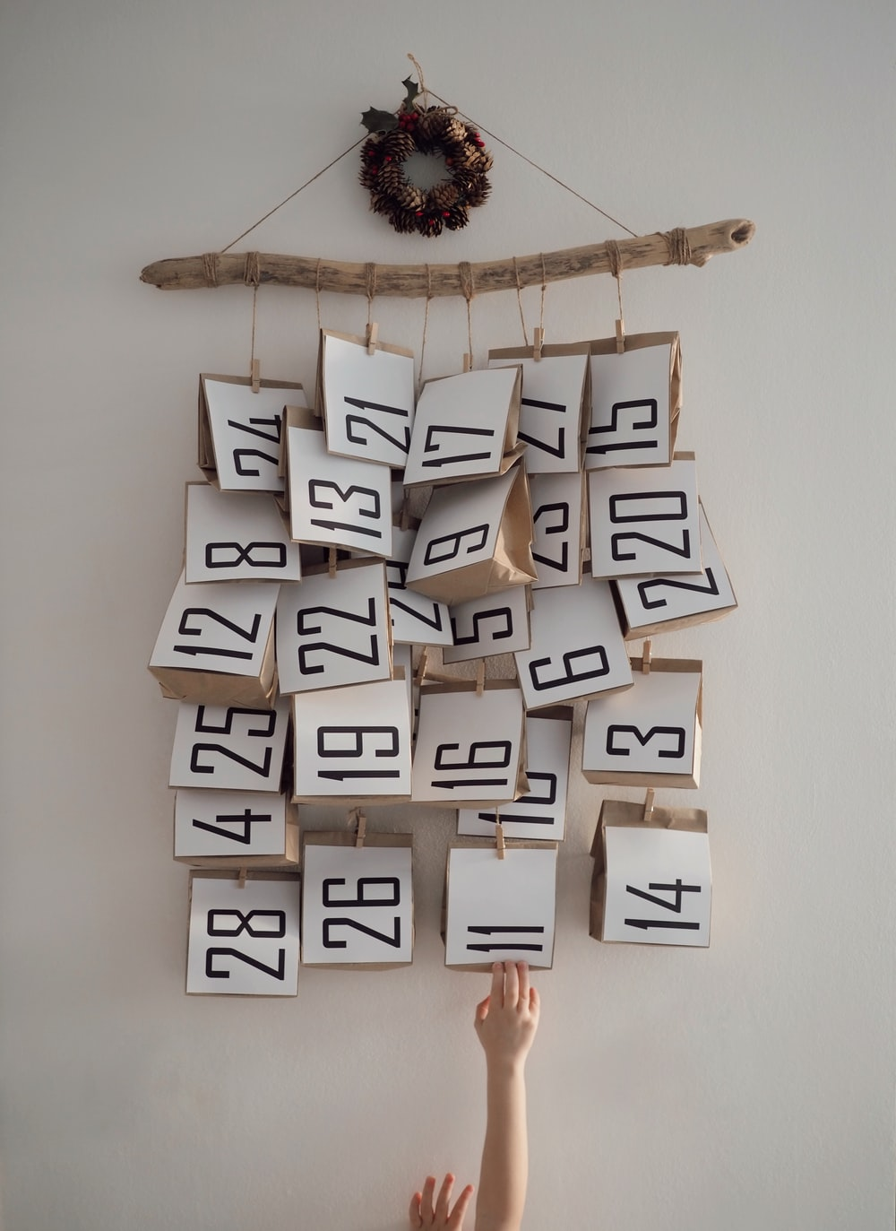 white and black wooden wall decor