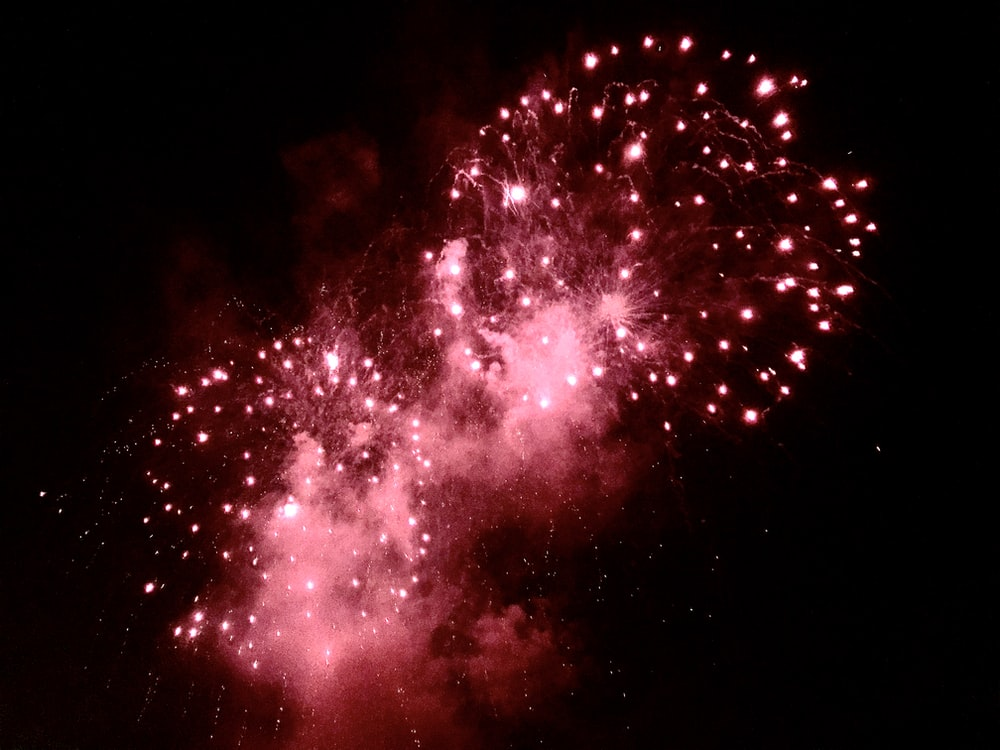 red and white fireworks display