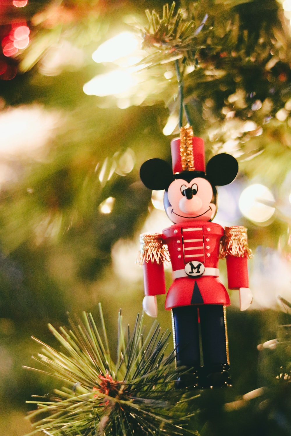 red and black mickey mouse figurine